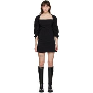 Vejas Black Elasticized Yoke Dress