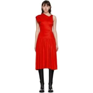 Vejas Red Grecian Dress