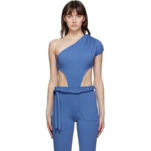 Vejas Blue Grecian Bodysuit