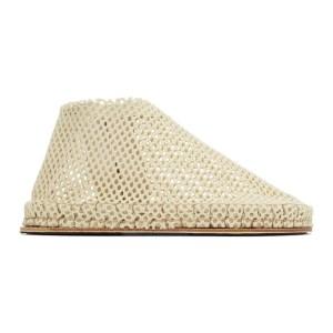 Cherevichkiotvichki SSENSE Exclusive Beige Woven Slippers