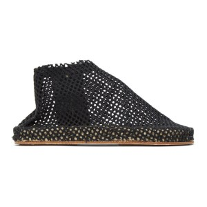 Cherevichkiotvichki SSENSE Exclusive Black Woven Slippers