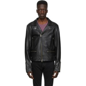 Tiger of Sweden Jeans Black Leather Chylo Jacket
