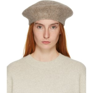 Lauren Manoogian Brown Horizontal Beret