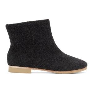 Lauren Manoogian Black Alpaca Ankle Boots