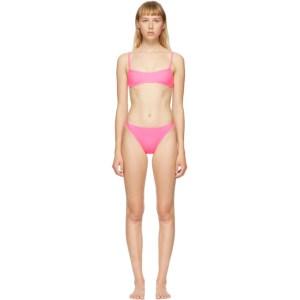 Solid and Striped Pink The Elsa Bikini