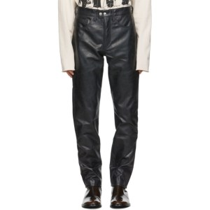 Enfants Riches Deprimes Black High Waist Leather Pants