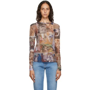 Y/Project Multicolor Mesh Graphic Long Sleeve T-Shirt