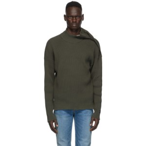 Y/Project Green Clipped Shoulder Turtleneck