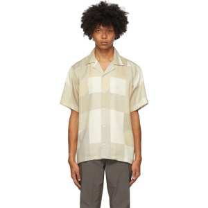 Saturdays NYC Beige and Off-White Geoblock Canty Shirt