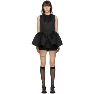 Shushu/Tong Black Circle Skirt Dress