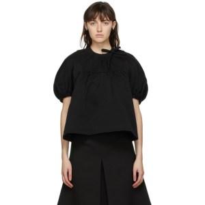 Shushu/Tong Black Round Sleeve Blouse