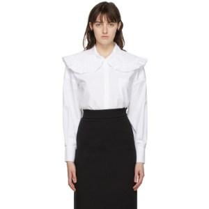 Shushu/Tong White Ruffled Collar Shirt