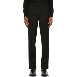 Second/Layer Black Virgin Wool Pico Trousers