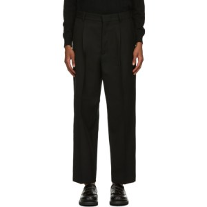Second/Layer Black Virgin Wool Velluto Trousers