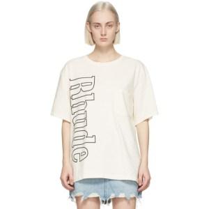 Rhude Off-White Logo Pocket T-Shirt