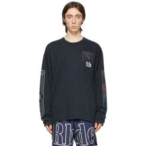 Rhude Black Box Perspective Long Sleeve T-Shirt