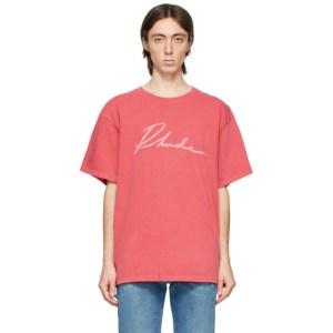 Rhude Red Logo Script T-Shirt