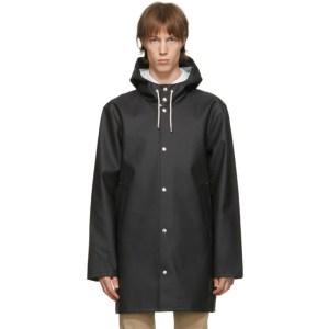 Stutterheim Black Stockholm LW Raincoat