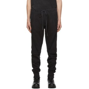 Greg Lauren Black Layered Sweatpants