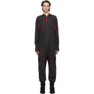 Greg Lauren Black Paul and Shark Edition Flight Jumpsuit