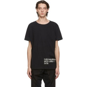 Greg Lauren Black Paul and Shark Edition Basic T-Shirt