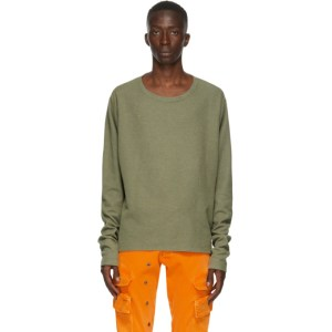 Greg Lauren Khaki Thermal Sweatshirt