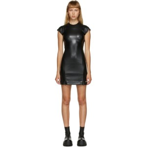 MISBHV Black Faux-Leather Short Dress