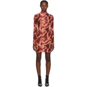 MISBHV Orange Barb Wire Net Mini Dress