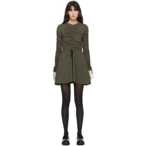 Molly Goddard SSENSE Exclusive Khaki Cotton Lola Dress