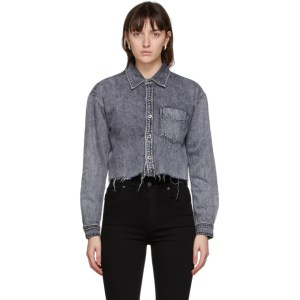Grlfrnd Grey Denim Christy Shirt