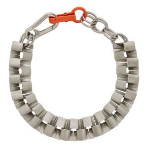 Heron Preston Silver Cubic Chain Choker