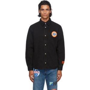 Heron Preston Black Denim Techno Shirt