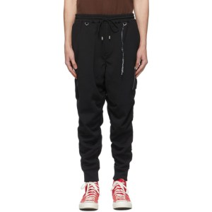 mastermind WORLD Black Ruched Lounge Pants