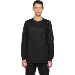 mastermind WORLD Black Bomber Long Sleeve T-Shirt