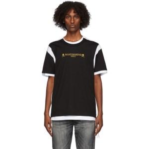 mastermind WORLD Black and White Double Layered T-Shirt