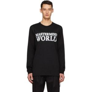 mastermind WORLD Black World Logo Long Sleeve T-Shirt