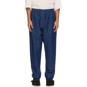 Jan-Jan Van Essche Blue Denim Trouser