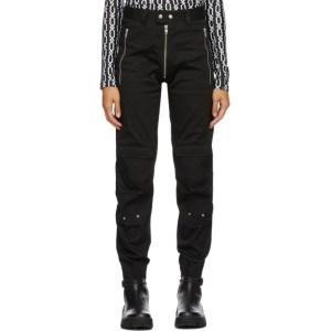 GmbH Black Exposed Zip Yolanda Cargo Trousers