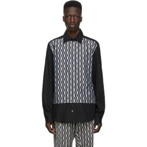 GmbH Black Panel Chains Shirt