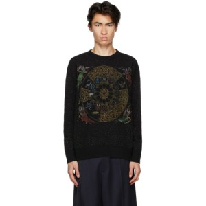 GmbH Black Wool Zodiac Sweater