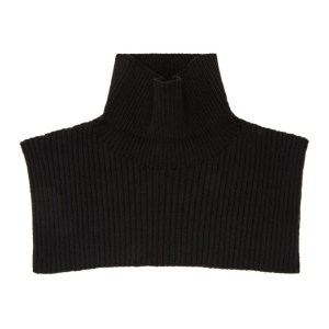 GmbH SSENSE Exclusive Black Wool Dixie AW20 Neck Warmer