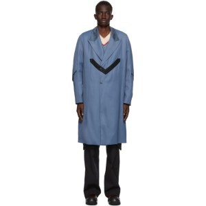 Kiko Kostadinov Blue Tailored Maik Coat