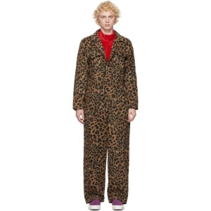 Landlord Brown Leopard Jumpsuit