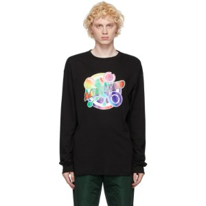 Landlord Black Graphic Long Sleeve T-Shirt