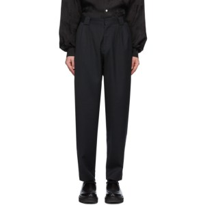 HOPE Black Wide Trap Trousers