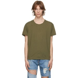 R13 Khaki Destroyed Surplus T-Shirt
