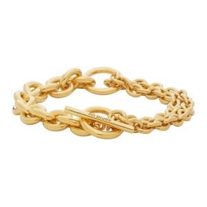 All Blues Gold Polished Double Bracelet