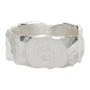 All Blues Silver Carved Rauk Narrow Ring