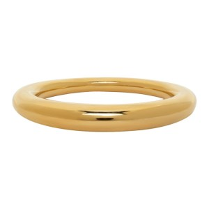 All Blues Gold Polished Thin Snake Ring
