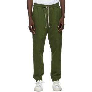 Bather Khaki Cotton Sweatpants